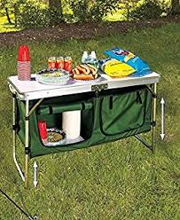 Portable Camping Kitchen Organizer - amazon com camp kitchen table collapsile cook station portable