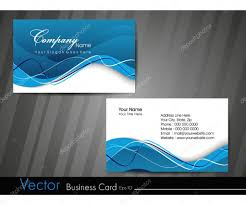 Business Card Eps Template Business Card Template Or Visiting Card Set Eps 10 Vector Illu