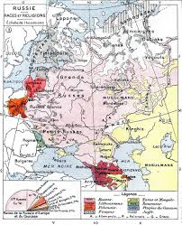 Europe Map During Ww1 Ethnic Map Of European Russia Before The First World War 486x599