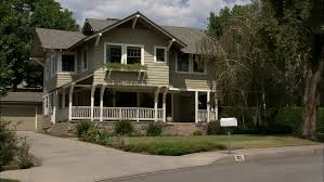 Two Story Craftsman by Day Static Wide Two Story Brown Wood Clapboard Craftsman Style
