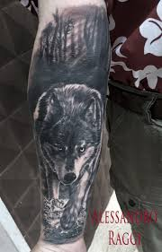 forearm wolf tattoos browse worlds largest tattoo image gallery trueartists com