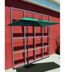 Red Rectangular Patio Umbrella Half Wall Commercial Patio Umbrella Perfect Umbrella Solution