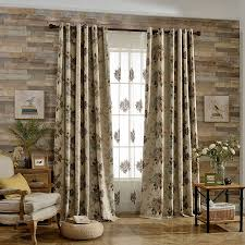 taupe waverly rustic grommet thermal soundproof curtains