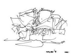 frank gehry architect disney concert hall preliminary sketches