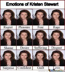 Kristen Stewart Meme - emotions of kristen stewart by innyoface meme center