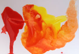 mixing paint into warm autumn colors painting lesson for kids
