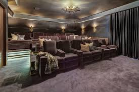 Home Theatre Sconces Home Theatre Seating Home Theater Traditional With Step Lighting