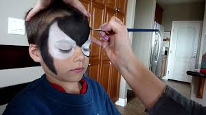 black spiderman face painting youtube