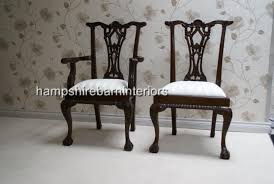 Chippendale Dining Room Chairs by Mahogany Reproduction Chippendale Style Table And 6 Chairs