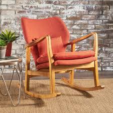 balen mid century modern fabric rocking chair u2013 gdf studio