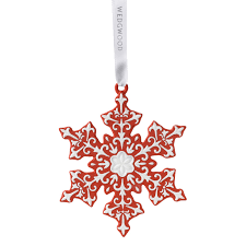 snowflake ornament 2017 wedgwood ornaments porcelain ornament
