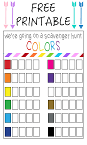 thanksgiving treasure hunt color scavenger hunt free printable our thrifty ideas