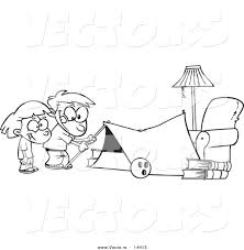 tent clipart outline pencil and in color tent clipart outline