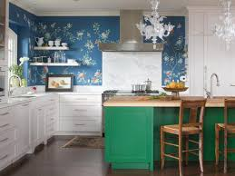 kitchen futuristic open kitchen design with green tile