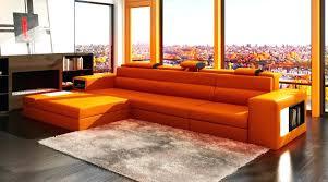 Orange Leather Sectional Sofa Orange Leather Sofa Bemine Co