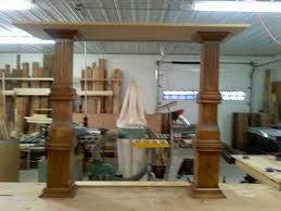 Dining Room Divider by Built In Kitchen To Dining Room Room Divider Cabinet Pillars Part