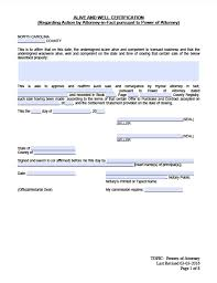north carolina real estate only power of attorney form power of