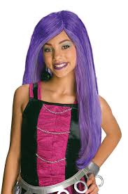 Halloween Costumes For Monster High Amazon Com Monster High Spectra Vondergeist Child U0027s Wig Toys U0026 Games