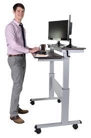 amazon com stand up desk store 48 inch crank adjustable height