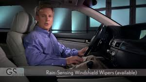 lexus gs 350 windshield replacement 2013 lexus gs rain sensing windshield wipers youtube