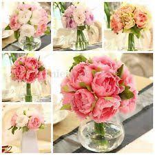 Silk Bridal Bouquet Artificial Wedding Flowers Ebay