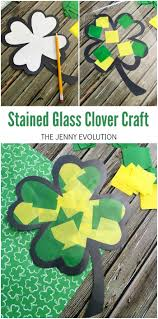 stained glass clover craft for kids the jenny evolution