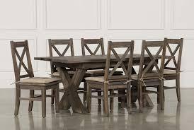mallard 7 piece extension dining set living spaces