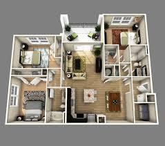 3d apartment floor plans apartement delightful 3 bedroom apartment floor plans 3d 1000