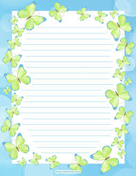 printable butterfly stationery