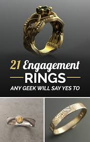 geeky engagement rings 21 ridiculously gorgeous geeky engagement rings