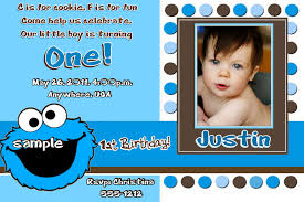 Birthday Invitation Cards For Kids First Birthday Cookie Monster Birthday Invitations