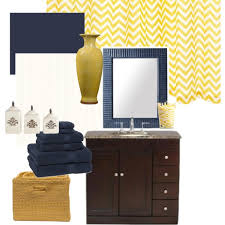 Navy Bathroom Accessories by Navy Blue And Yellow Bathroom Polyvore