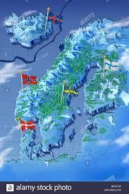 Map Sweden Map Norway Finland Sweden Denmark Stock Photos U0026 Map Norway