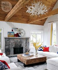 interior rustic waterfront cottage style at home
