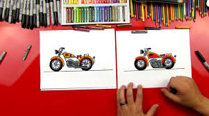 minecraft motorcycle how to draw a motorcycle art for kids hub