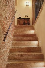 beta plus stone stairway brick wall simple iron stair rail