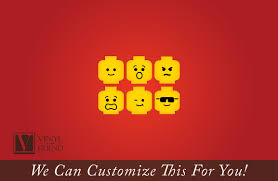 minifig emotion head faces wall decor vinyl decal digital print