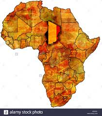 Chad Map Chad Flag Map Stock Photos U0026 Chad Flag Map Stock Images Alamy