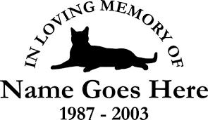 cat memorial memorial vinyl window decals in loving memory of car truck stickers
