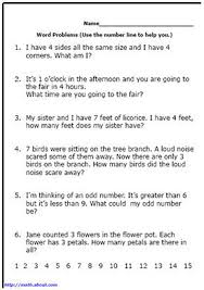 here u0027s a bunch of printable math word problems for your first