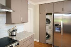 laundry in kitchen elissa another exle of washer dryer next to fridge with the
