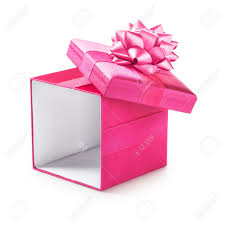 gift box with ribbon open pink gift box with ribbon bow present object