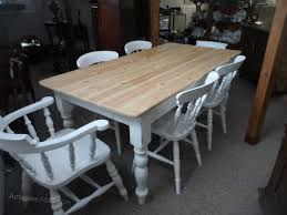 shabby chic farmhouse table antiques atlas shabby chic farmhouse table and six chairs