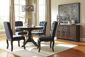 Dining Room Side Chairs Trudell Golden Brown Dining Room Table 4 Uph Side
