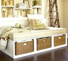 Bookcase With Baskets Daybed With Bookcase And Trundle Daybed With Shelves And Drawers