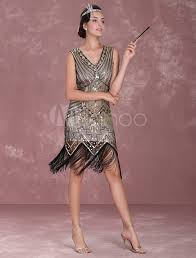 Great Gatsby Women S Clothing Great Gatsby Flapper Dress 1920s Vintage Costume Women U0027s Apricot