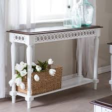 Console Table For Living Room Belham Living Jocelyn Console Table White Walnut Hayneedle
