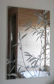 Etched Bathroom Mirror Etched Glass Mirrors Bathroom Mirrors Pinterest Mirror