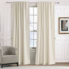 Amazon Thermal Drapes Amazon Com Blackout Curtains Solid Beige Off White Light Yellow