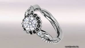 white and black diamond engagement rings white gold and black diamond engagement rings jewelry